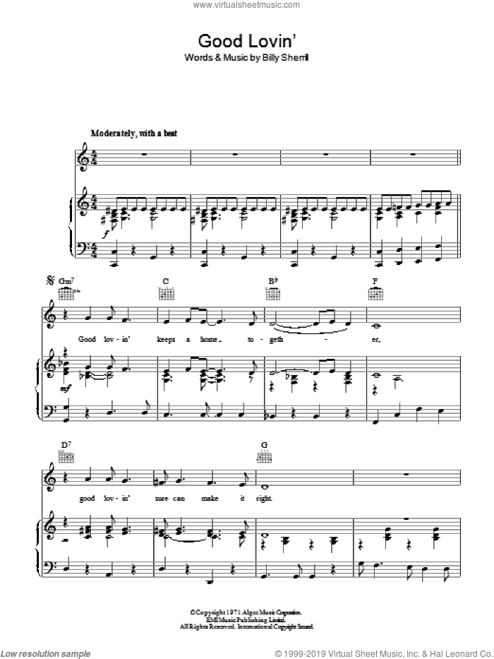 Good Lovin' (Makes It Right) sheet music for voice, piano or guitar by Tammy Wynette and Billy Sherrill, intermediate skill level