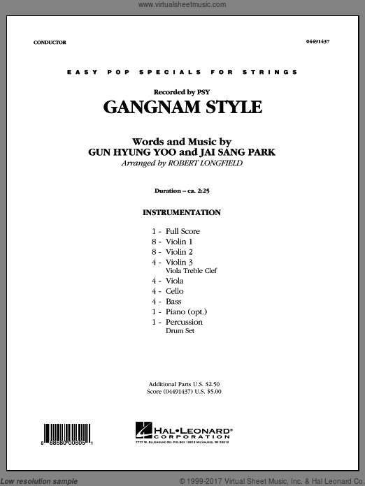 Gangnam Style (COMPLETE) sheet music for orchestra by Jai Sang Park