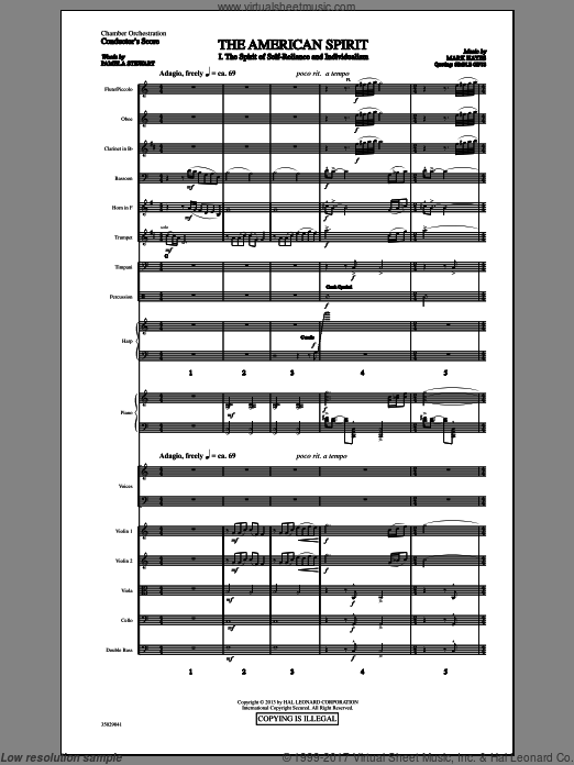 The American Spirit (COMPLETE) sheet music for orchestra by Mark Hayes