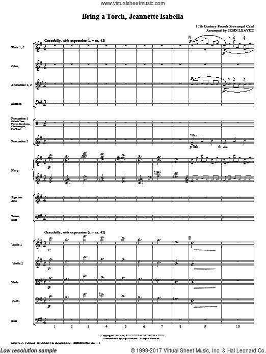 Bring a Torch, Jeanette Isabella (COMPLETE) sheet music for orchestra