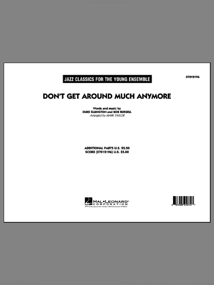 Don't Get Around Much Anymore (COMPLETE) sheet music for jazz band by Duke Ellington, Bob Russell and Mark Taylor, intermediate skill level