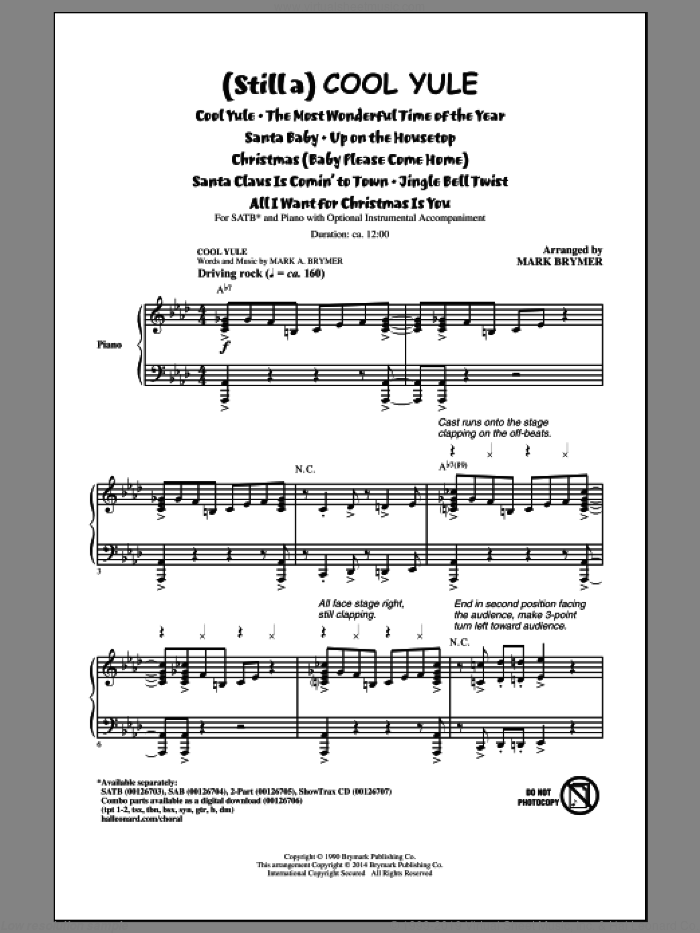 All I Want For Christmas Is You sheet music for choir (SATB: soprano, alto, tenor, bass) by Mark Brymer, Justin Bieber Duet With Mariah Carey, Lady Antebellum, Mariah Carey, Michael Buble and Walter Afanasieff, intermediate