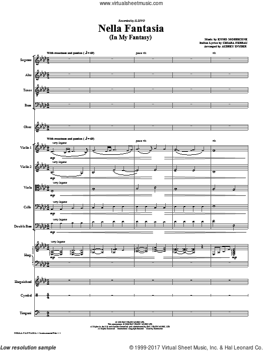 Nella Fantasia (In My Fantasy) (COMPLETE) sheet music for orchestra by Chiara Ferrau
