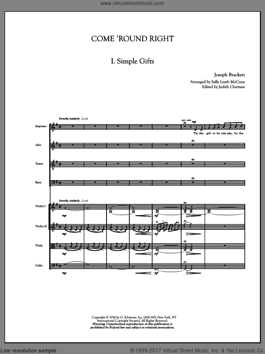 Come 'Round Right; A Folk Song Suite (COMPLETE) sheet music for orchestra by Sally Lamb McCune