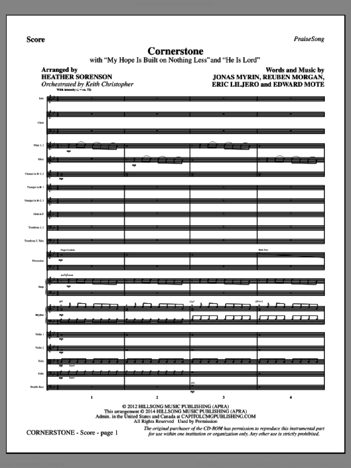 Sorenson - Cornerstone sheet music (complete collection) for orchestra/band