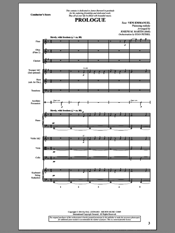 Canticles in Candlelight (COMPLETE) sheet music for orchestra/band by Joseph Martin, Joseph M. Martin, John M. Neale (v. 1,2) and Miscellaneous, intermediate. Score Image Preview.