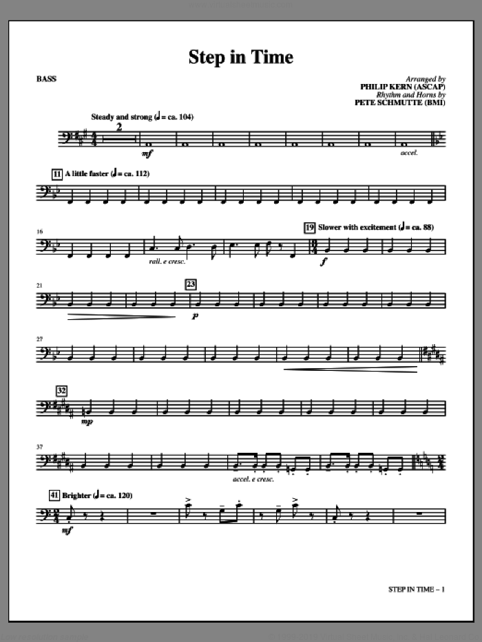 Step In Time (complete set of parts) sheet music for orchestra/band by Richard M. Sherman, Anthony Drewe, George Stiles, Philip Kern and Robert B. Sherman, intermediate skill level