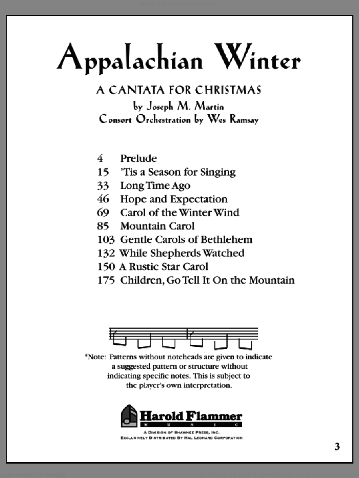Appalachian Winter (COMPLETE) sheet music for orchestra/band by Joseph Martin, Joseph M. Martin and Jonathan Spilman, Christmas carol score, intermediate orchestra/band. Score Image Preview.