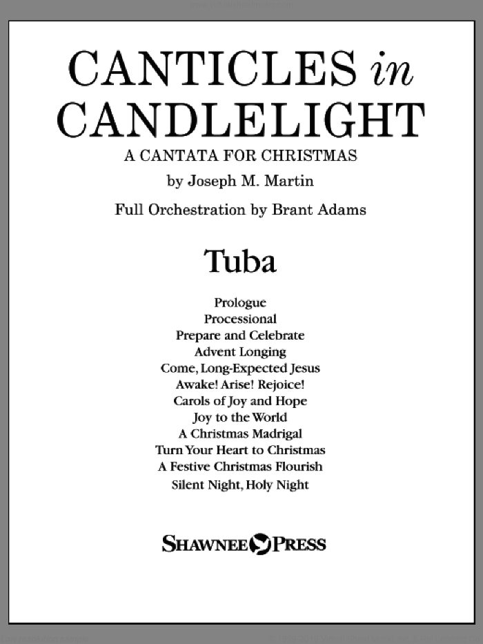 Canticles in Candlelight sheet music for orchestra/band (tuba) by Joseph M. Martin, intermediate skill level