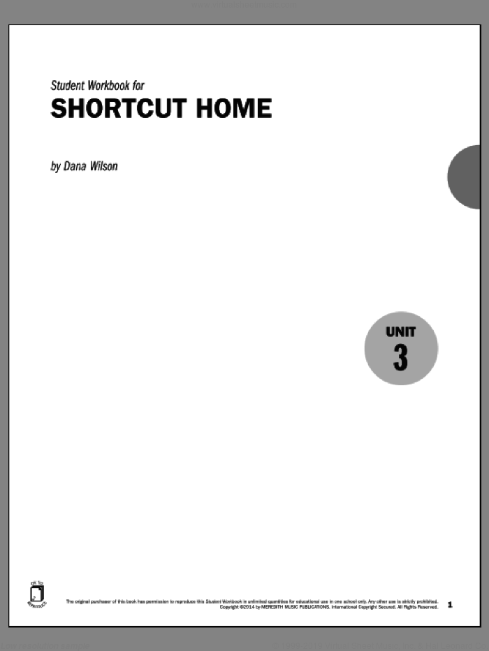 Guides to Band Masterworks, Vol. 5 - Student Workbook - Shortcut Home sheet music for piano solo by Dana Wilson, intermediate skill level