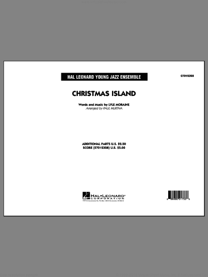 Christmas Island (COMPLETE) sheet music for jazz band by Paul Murtha, intermediate skill level
