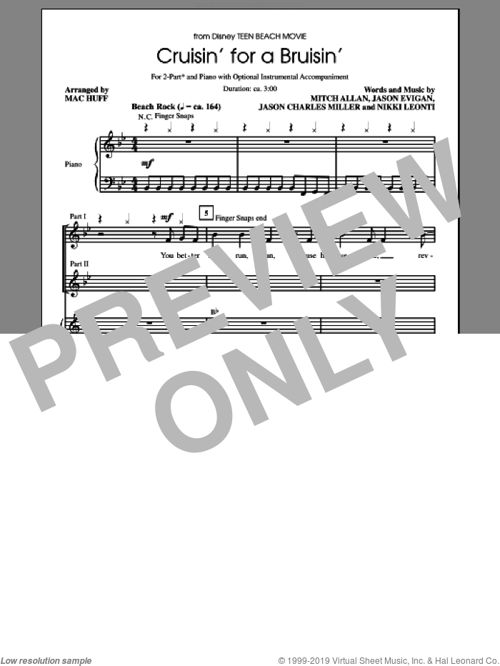 Cruisin' For A Bruisin' sheet music for choir and piano (duets) by Nikki Leonti