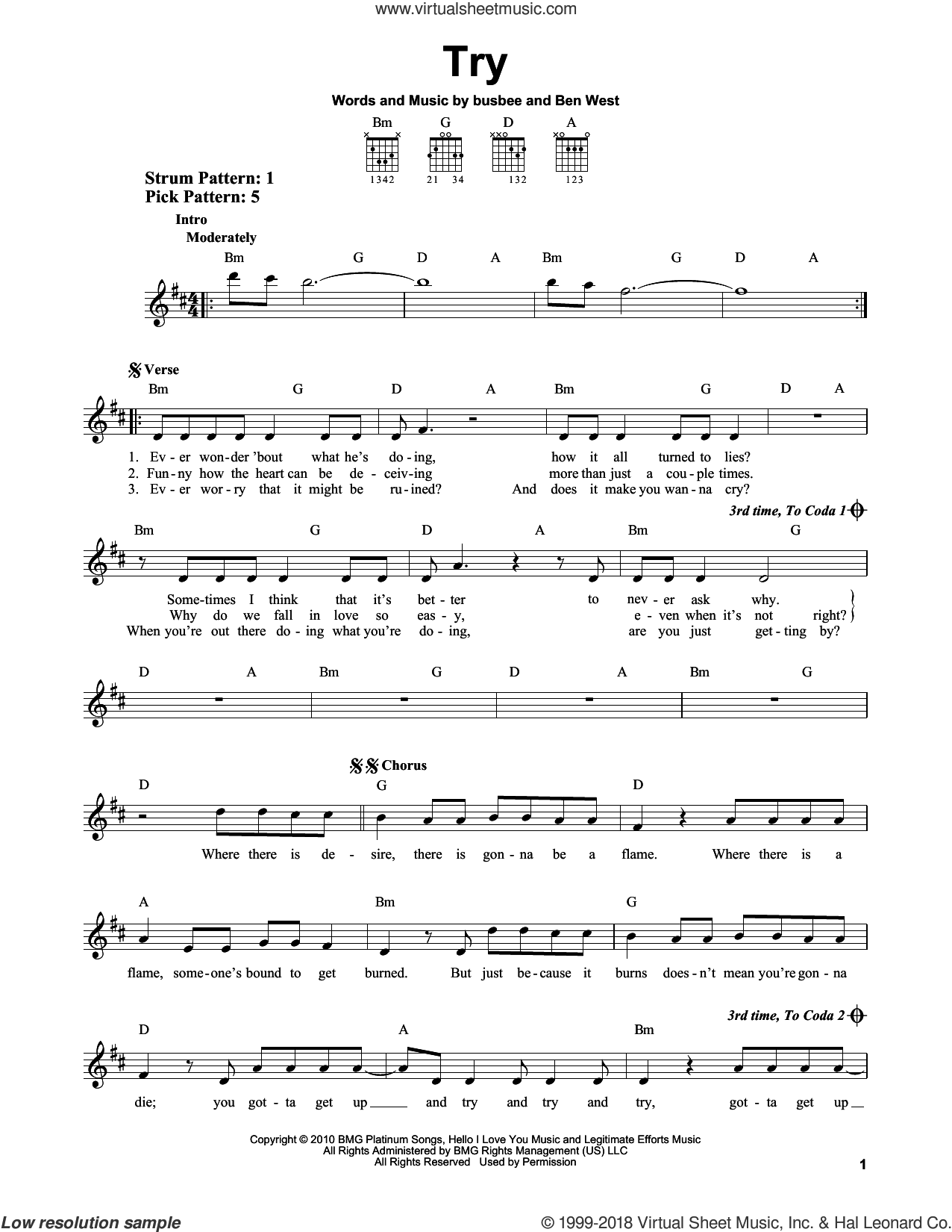 Try sheet music for guitar solo (chords) by busbee