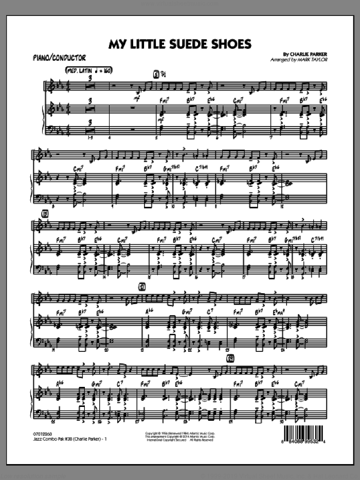 Jazz Combo Pak #38 (Charlie Parker) (COMPLETE) sheet music for jazz band by Charlie Parker and Mark Taylor, intermediate skill level