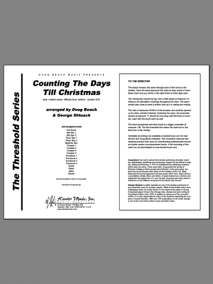 Counting The Days Till Christmas (COMPLETE) sheet music for jazz band by Doug Beach and George Shutack, intermediate skill level
