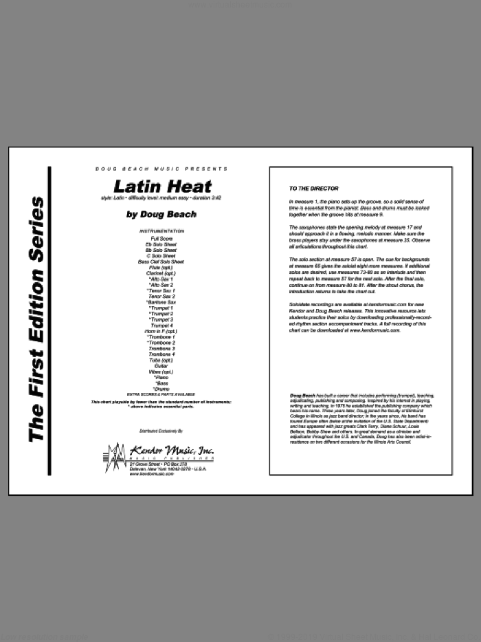 Latin Heat (COMPLETE) sheet music for jazz band by Doug Beach, intermediate skill level