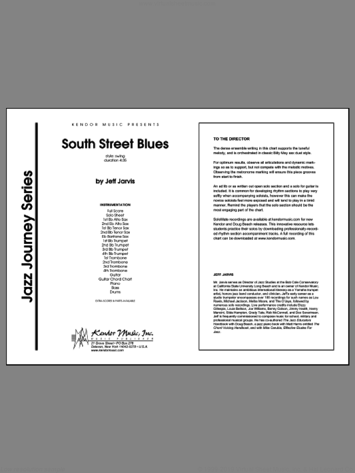 South Street Blues (COMPLETE) sheet music for jazz band by Jeff Jarvis, intermediate skill level