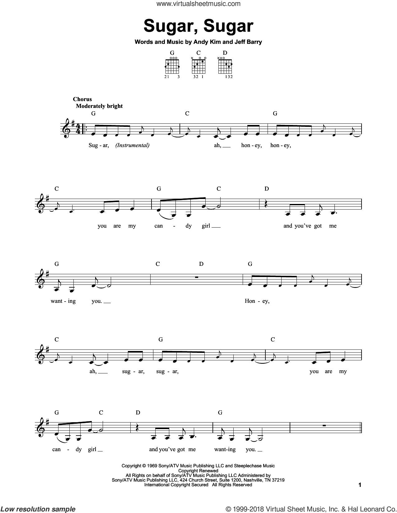 Sugar Sugar Guitar Chords
