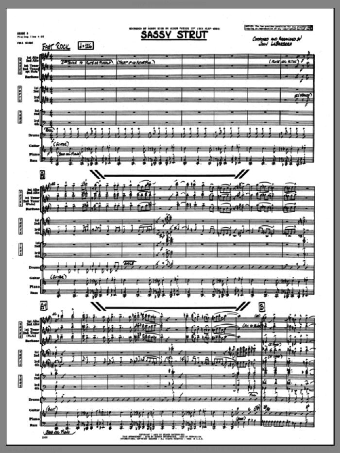 Sassy Strut (COMPLETE) sheet music for jazz band by John LaBarbara, intermediate skill level