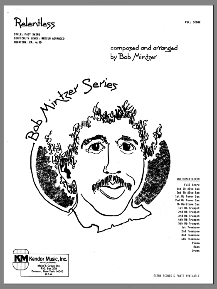 Relentless (COMPLETE) sheet music for jazz band by Bob Mintzer, intermediate skill level