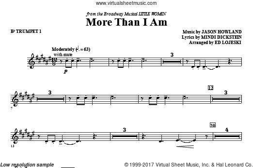 More Than I Am (COMPLETE) sheet music for orchestra by Mindi Dickstein