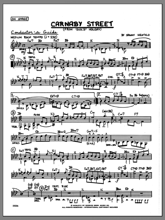 Carnaby Street (COMPLETE) sheet music for jazz band by Sammy Nestico, intermediate skill level