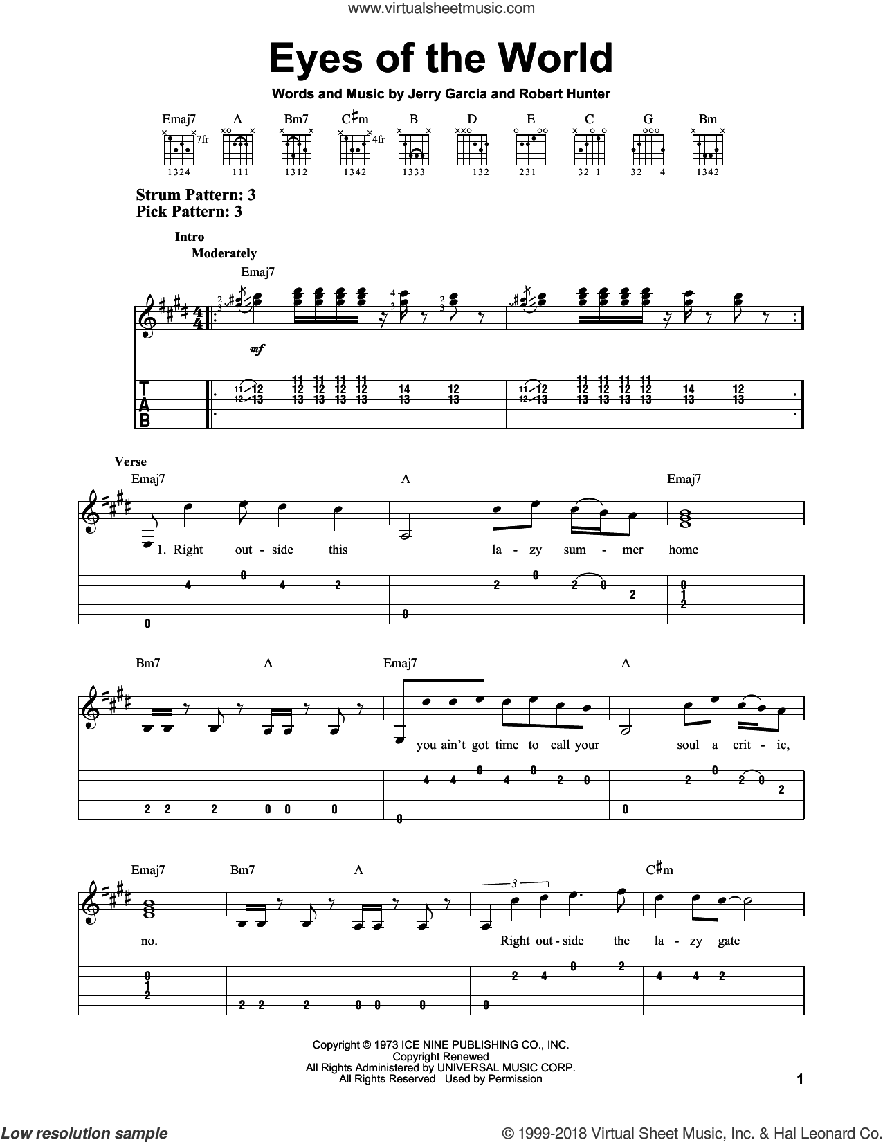 dead eyes of the world sheet music for guitar solo easy tablature. Black Bedroom Furniture Sets. Home Design Ideas