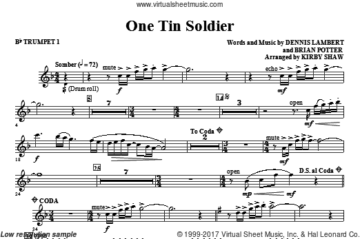 One Tin Soldier (COMPLETE) sheet music for orchestra by Dennis Lambert