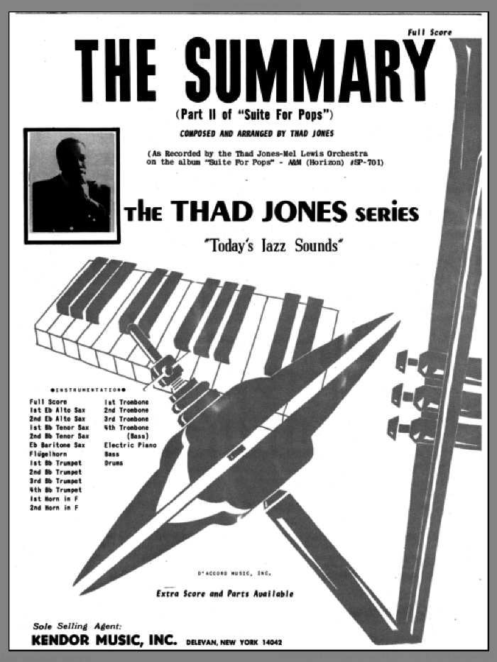 The Summary (COMPLETE) sheet music for jazz band by Thad Jones, intermediate skill level