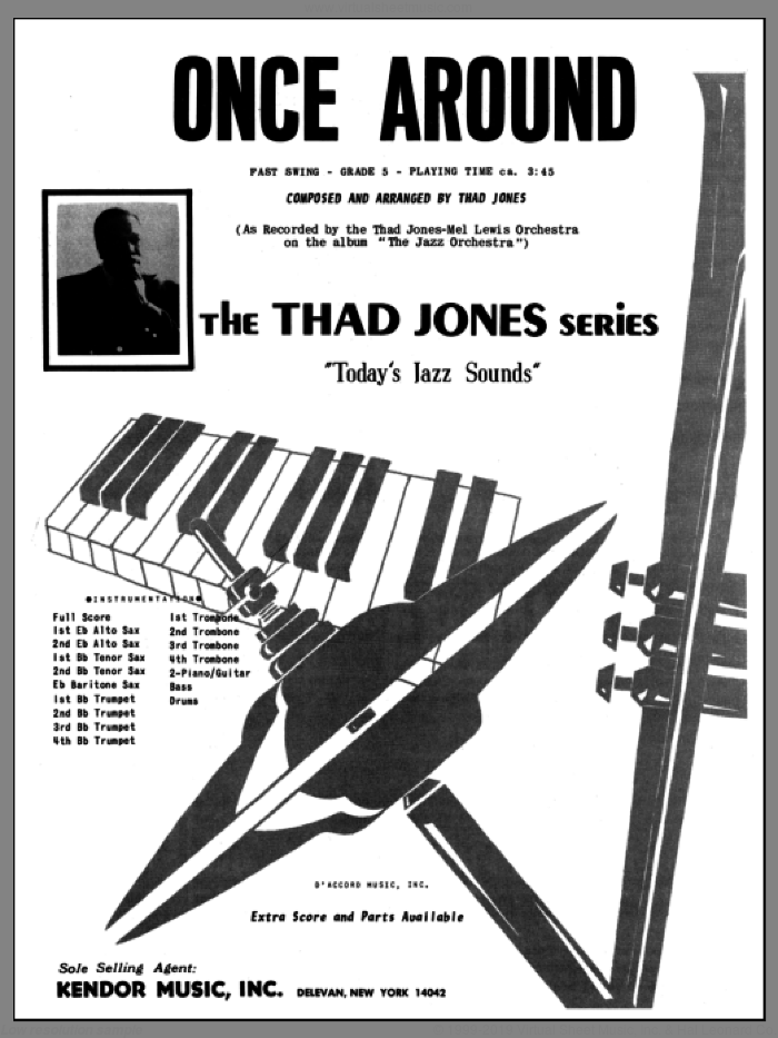 Once Around (COMPLETE) sheet music for jazz band by Thad Jones, intermediate