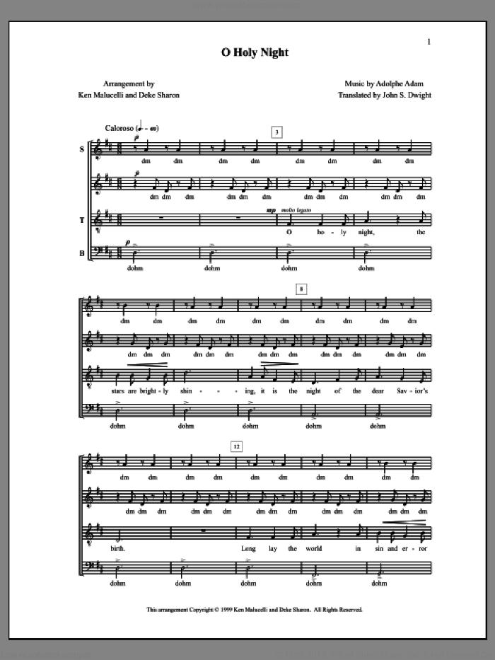 Sharon O Holy Night Sheet Music For Choir Pdf