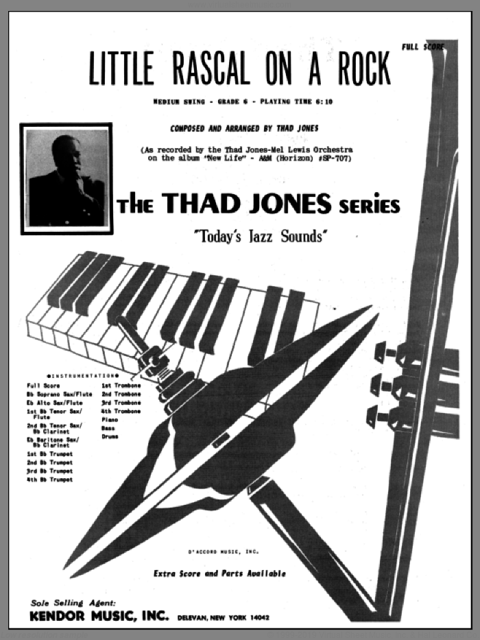 Little Rascal On A Rock (COMPLETE) sheet music for jazz band by Thad Jones, intermediate skill level