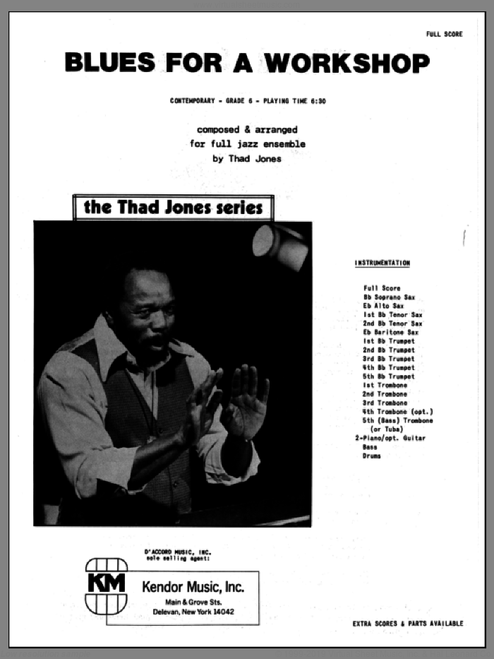 Blues For A Workshop (COMPLETE) sheet music for jazz band by Thad Jones, intermediate