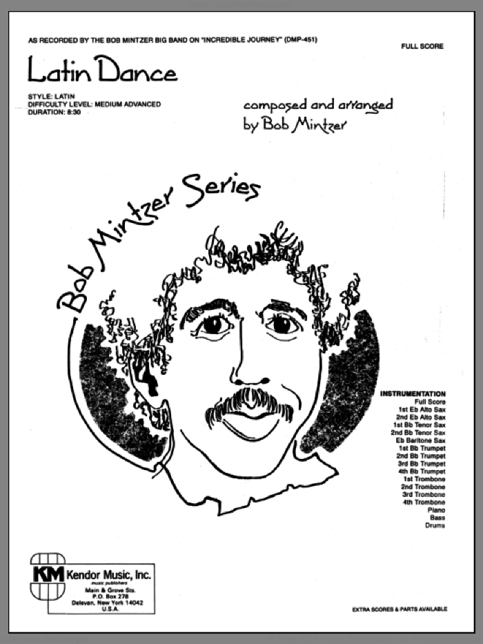 Latin Dance (COMPLETE) sheet music for jazz band by Bob Mintzer, intermediate skill level