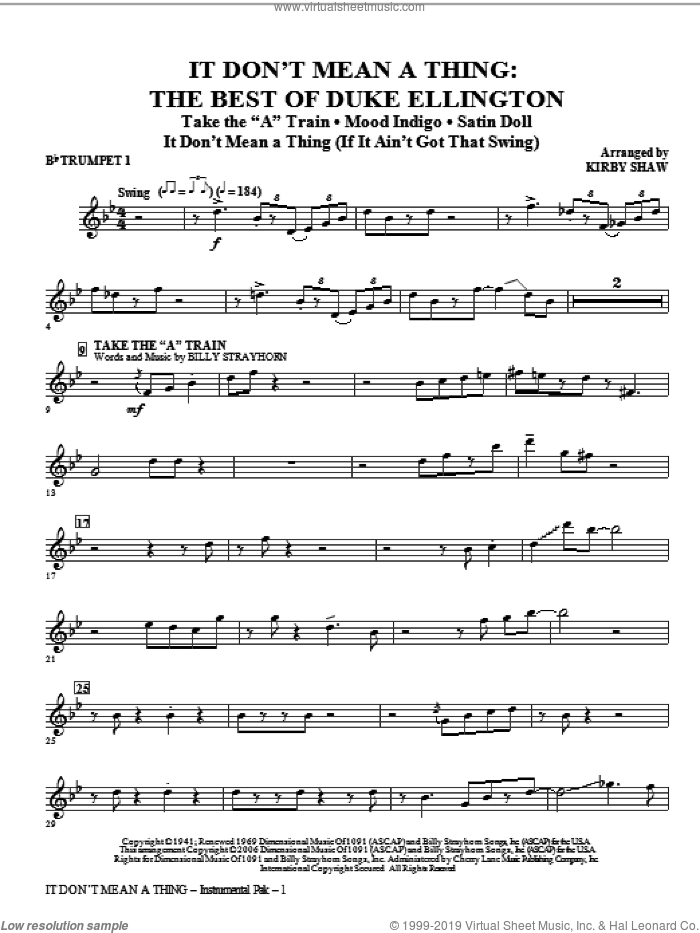 It Don't Mean A Thing: The Best Of Duke Ellington (Medley) (complete set of parts) sheet music for orchestra/band by Kirby Shaw and Duke Ellington, intermediate skill level