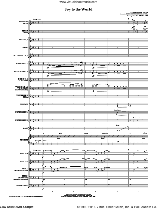 We Come With Joy Orchestration (COMPLETE) sheet music for orchestra by Mark Lowry, Marty Hamby, Kathy Mattea and Buddy Greene. Score Image Preview.