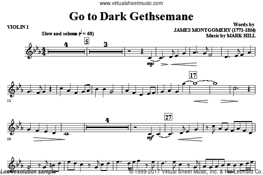 Go To Dark Gethsemane (COMPLETE) sheet music for orchestra by Mark Hill