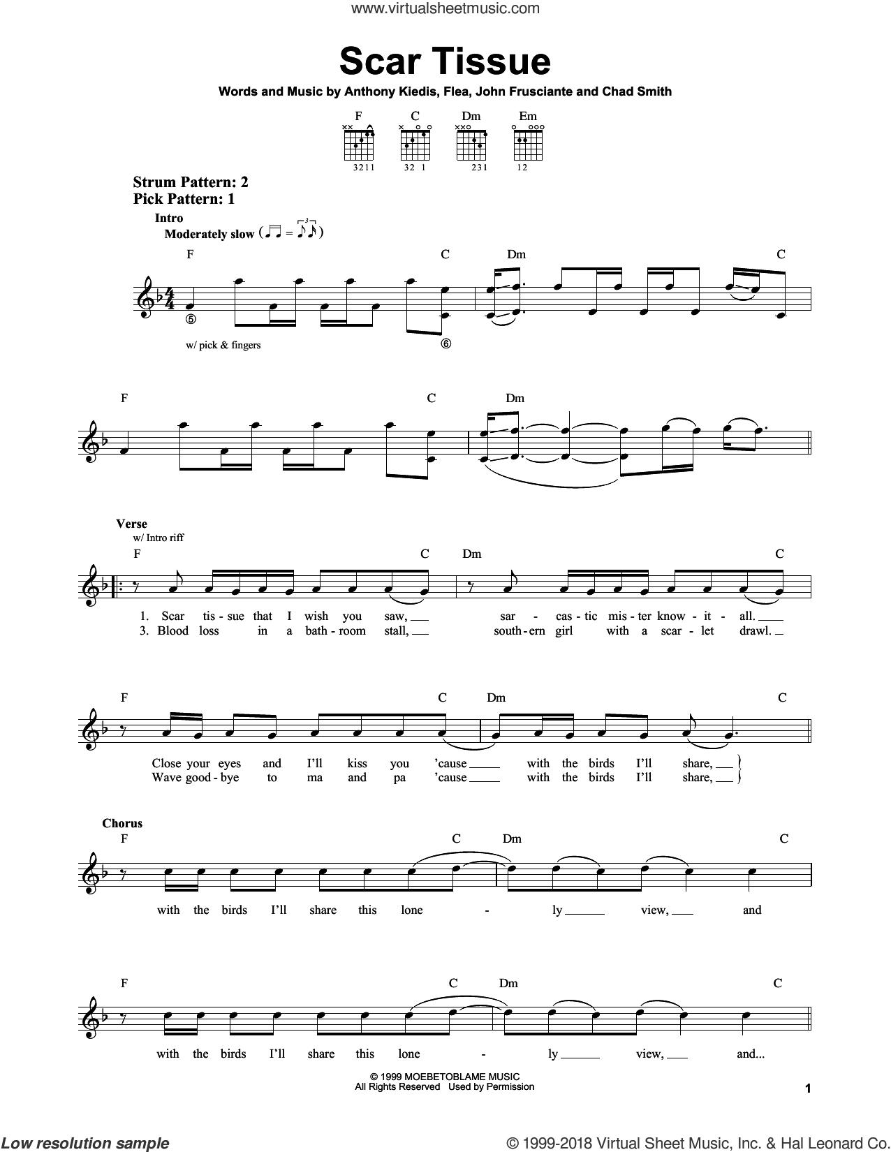 Scars Guitar Chords