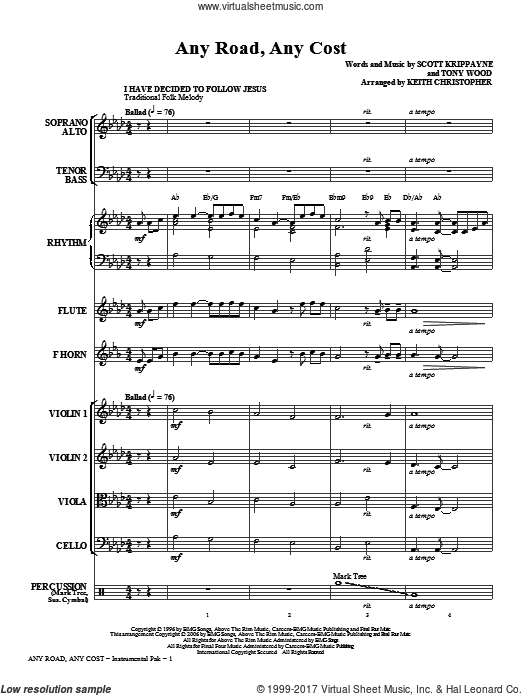 Any Road, Any Cost (COMPLETE) sheet music for orchestra by Scott Krippayne