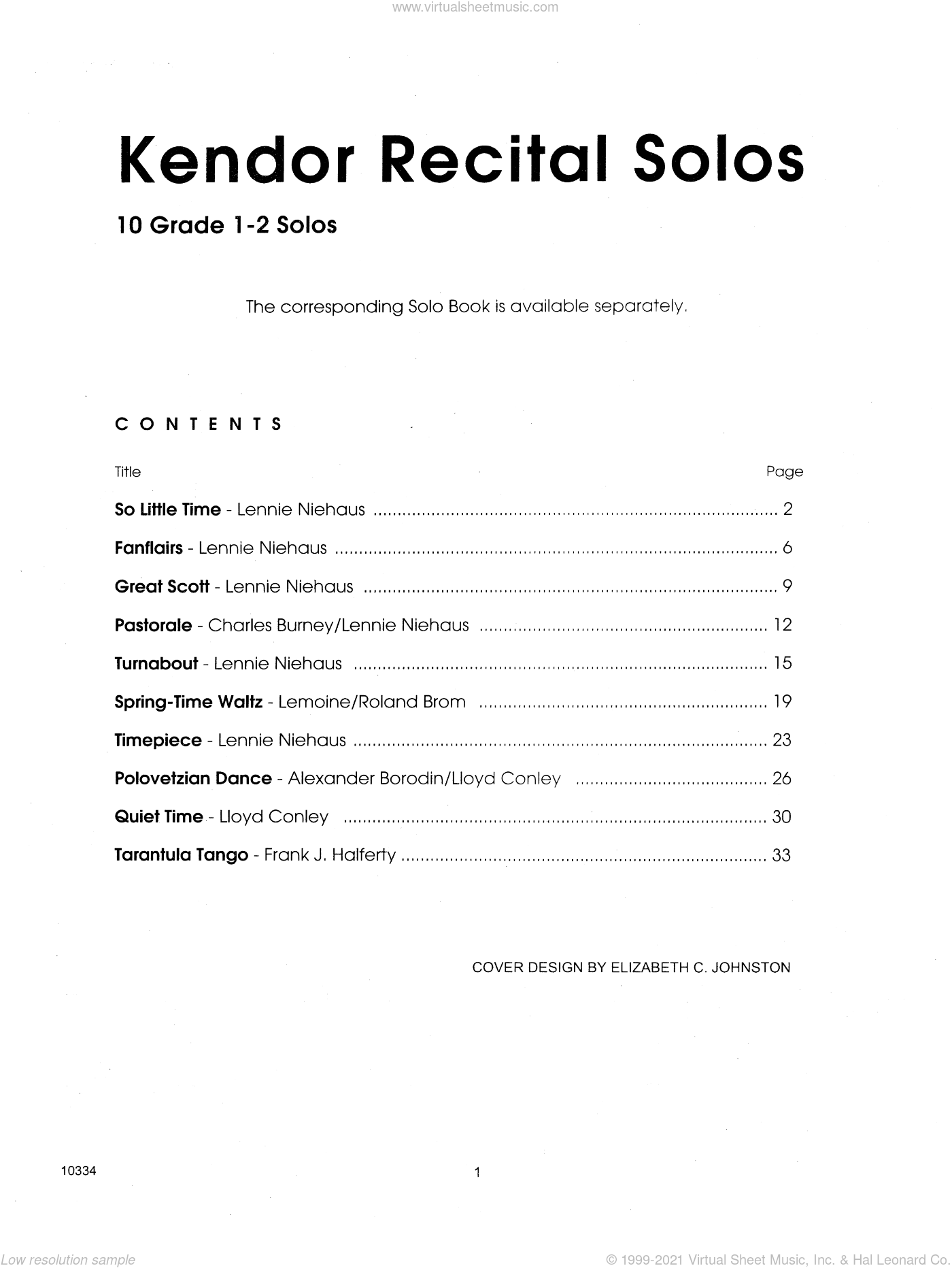 Kendor Recital Solos - Clarinet (Piano Accompaniment Book Only) sheet music for clarinet and piano, intermediate skill level