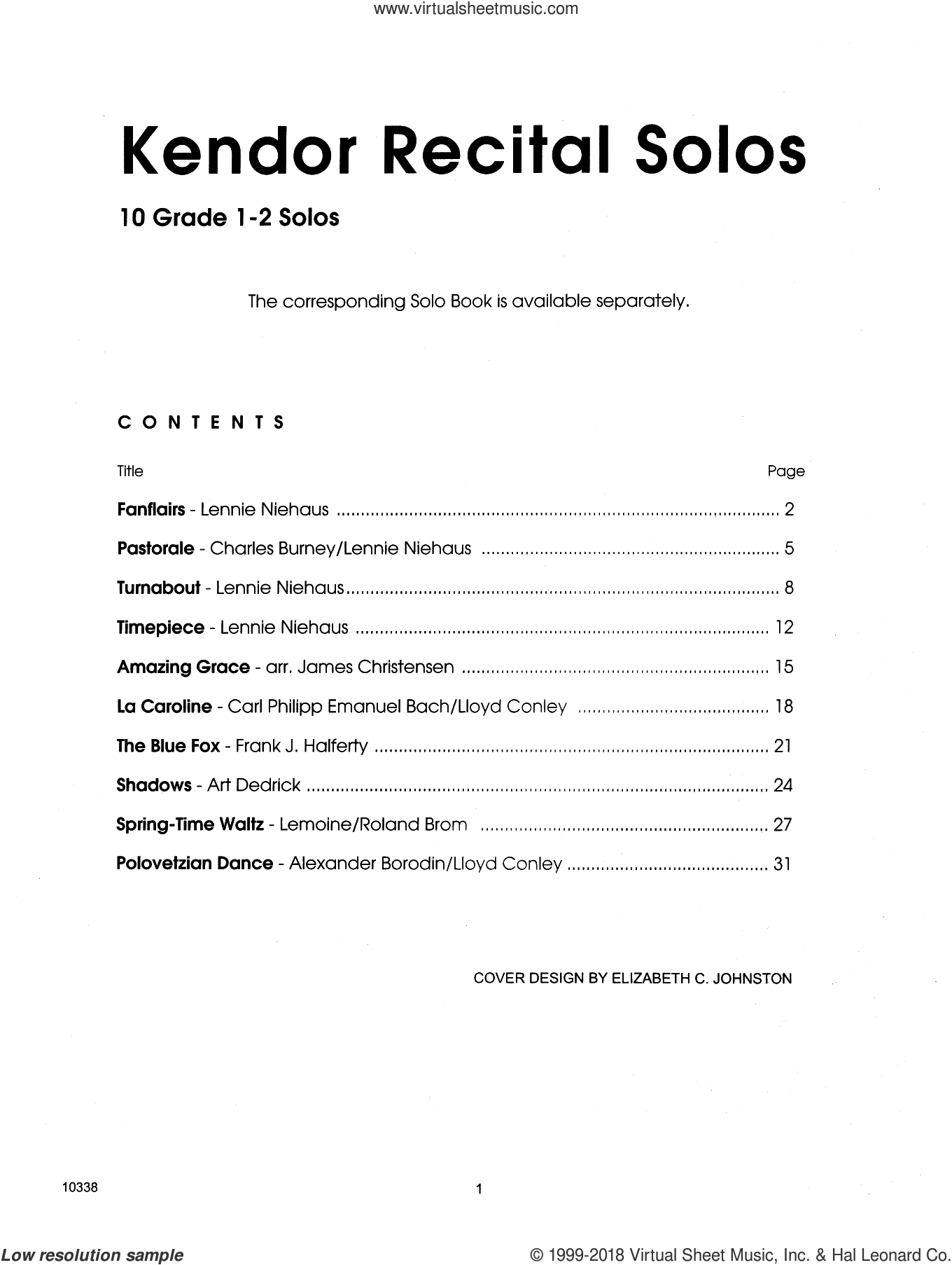 Kendor Recital Solos - Tenor Saxophone (Piano Accompaniment Book Only) sheet music for tenor saxophone and piano