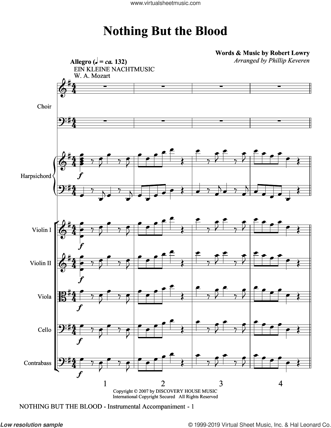 Nothing But the Blood (COMPLETE) sheet music for orchestra/band (Strings) by Phillip Keveren and Robert Lowry, intermediate skill level