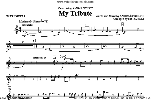 My Tribute (COMPLETE) sheet music for orchestra by Ed Lojeski and Andrae Crouch. Score Image Preview.