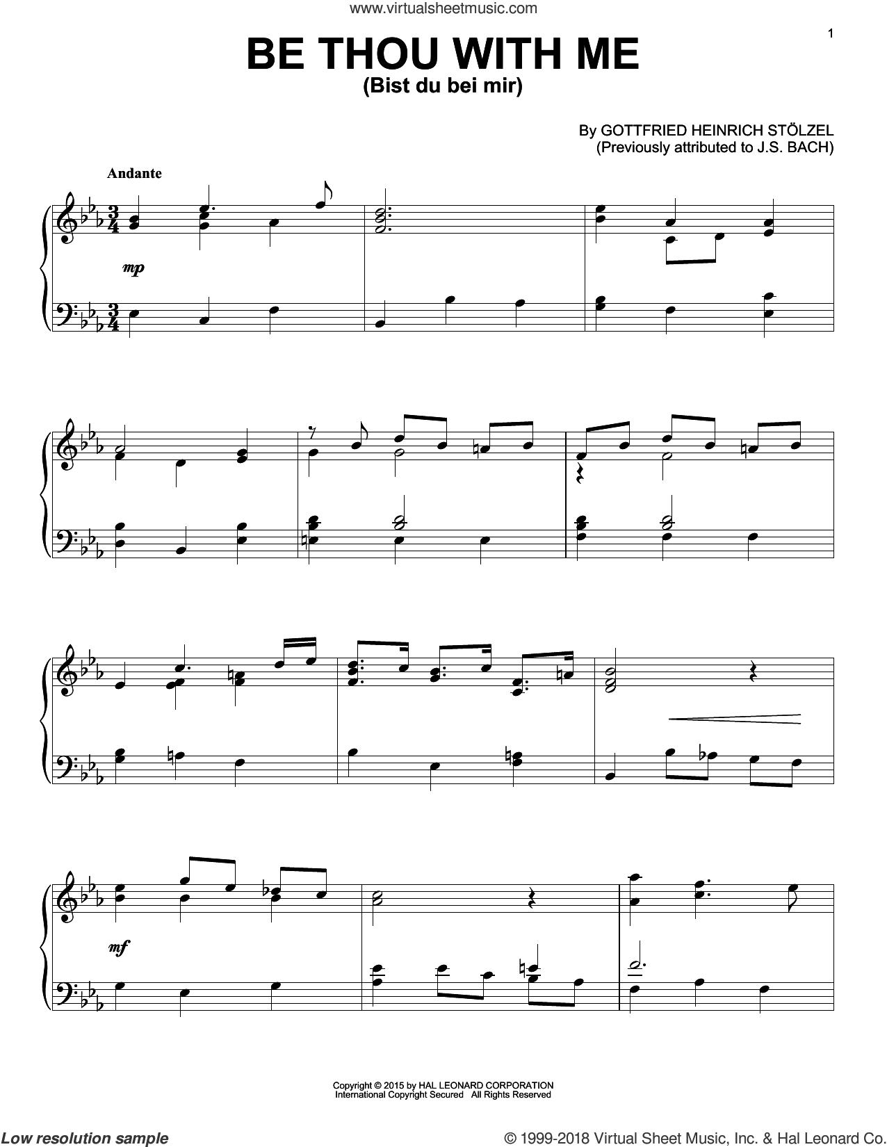 Stolzel Bist Du Bei Mir Sheet Music For Piano Solo Pdf