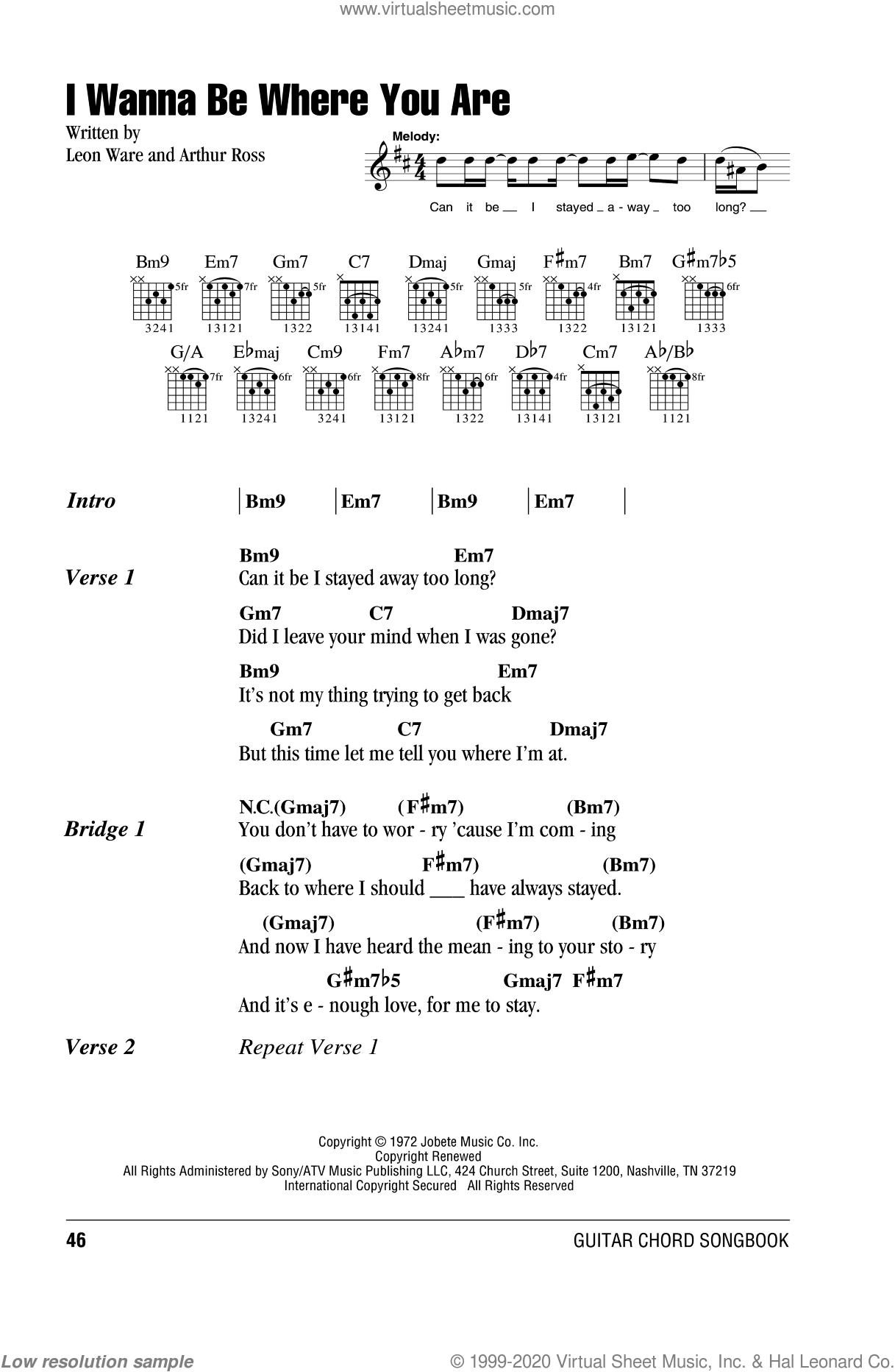 5 I Wanna Be Where You Are Sheet Music For Guitar Chords