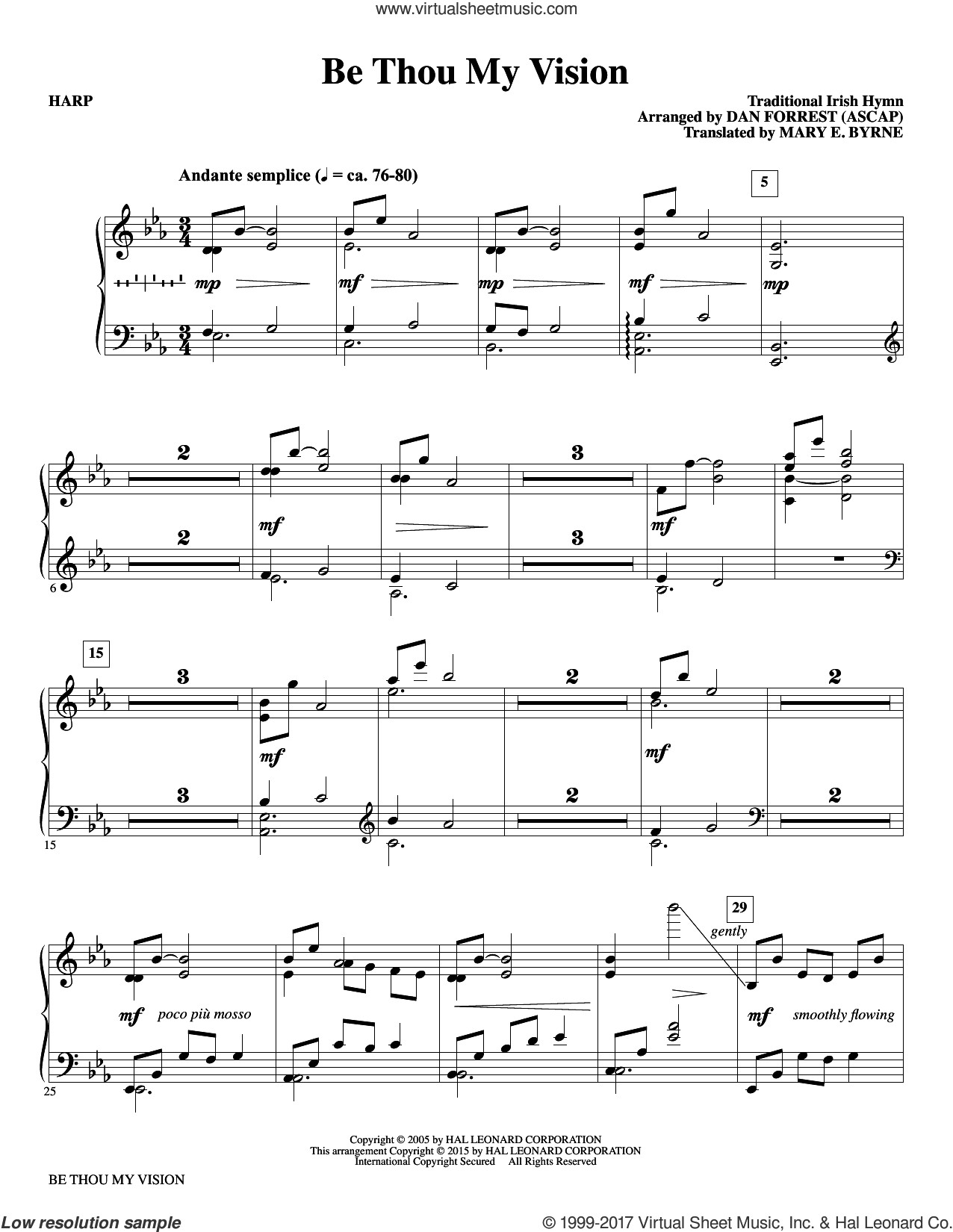 Be Thou My Vision (complete set of parts) sheet music for orchestra/band by Dan Forrest and Translated by Mary E. Byrne, classical wedding score, intermediate skill level