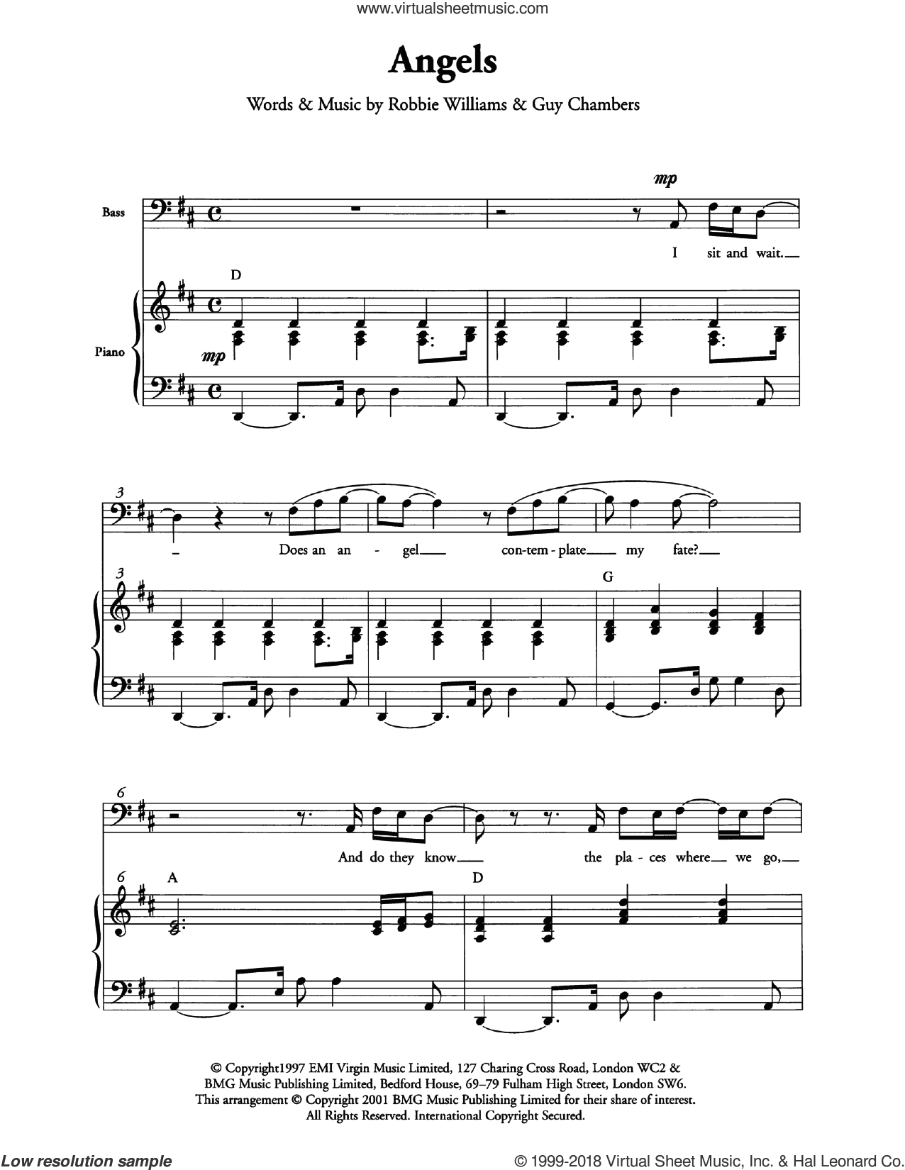 Angels (Arr. Berty Rice) sheet music for choir by Robbie Williams, intermediate. Score Image Preview.