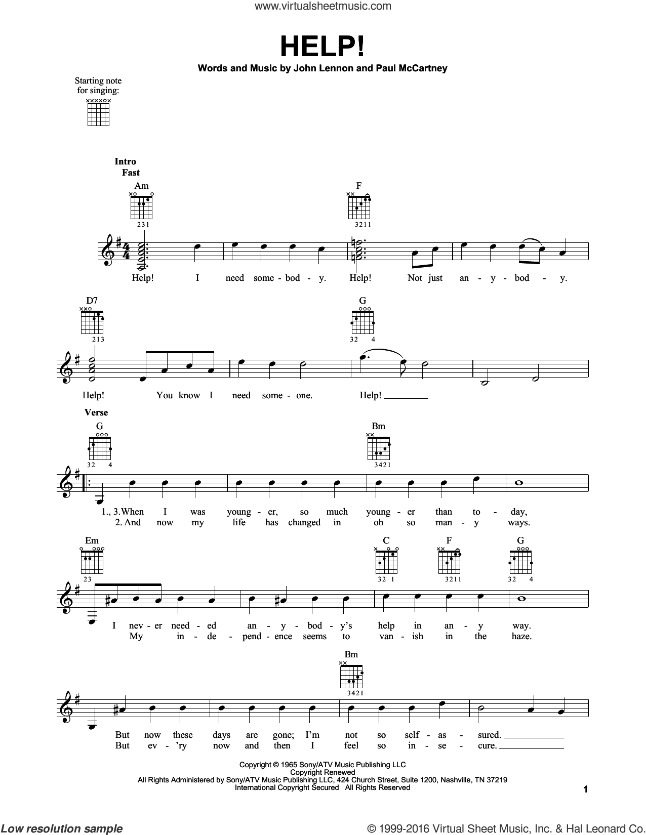 beatles help sheet music for guitar solo chords. Black Bedroom Furniture Sets. Home Design Ideas