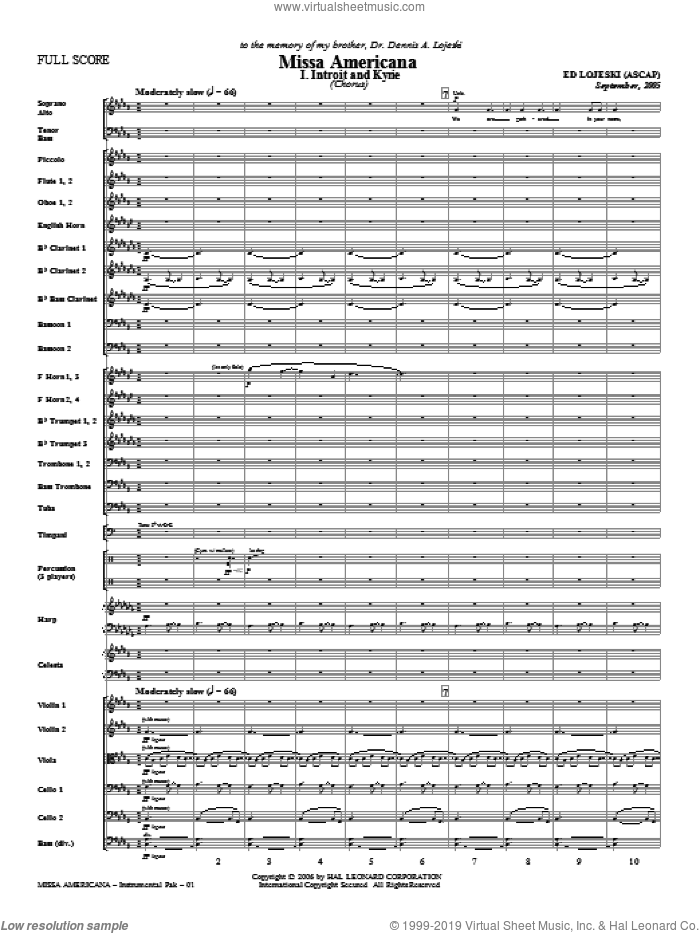 Missa Americana sheet music for orchestra/band (Orchestra)