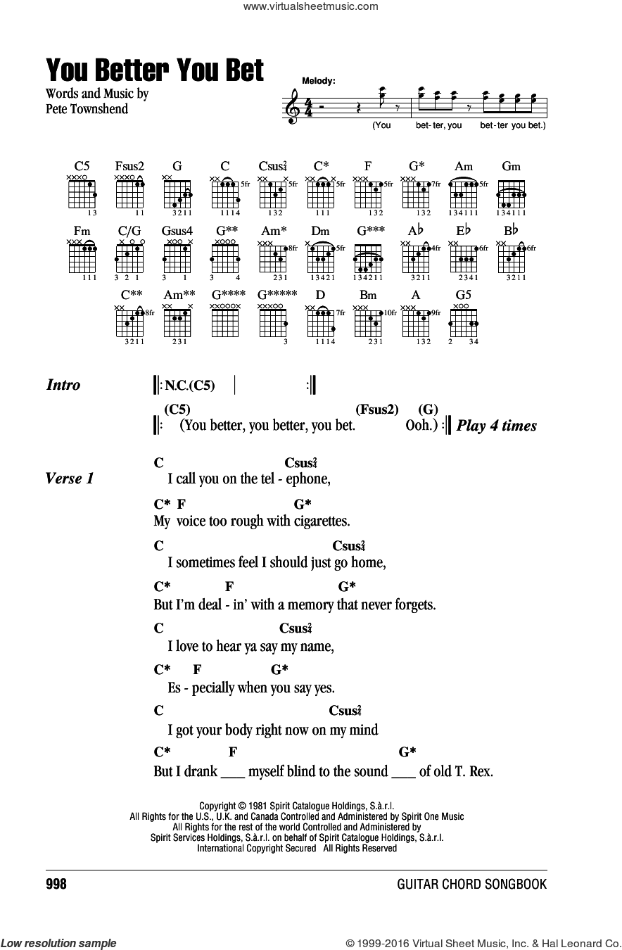 Enjoy the silence guitar chords image collections guitar chords the seeker guitar chords images guitar chords examples who you better you bet sheet music for hexwebz Images